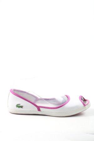 Lacoste Peep Toe Ballerinas multicolored casual look