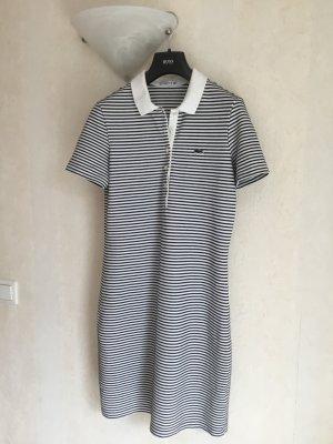 Lacoste Robe Polo blanc-noir coton