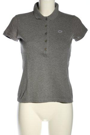 Lacoste Camiseta tipo polo gris claro moteado look casual
