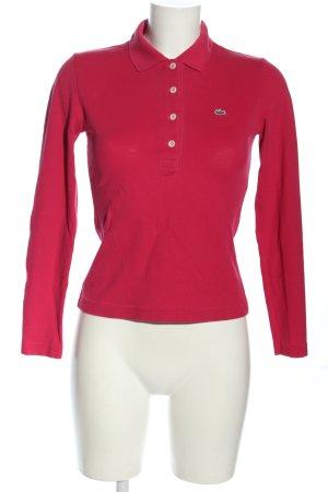 Lacoste Polo rosso stile casual