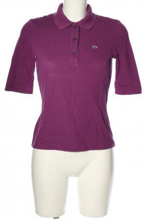 Lacoste Polo-Shirt lila Casual-Look