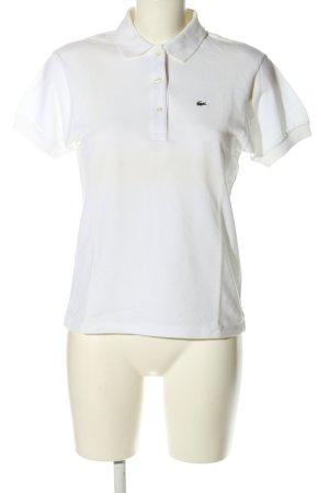 Lacoste Polo-Shirt weiß schlichter Stil