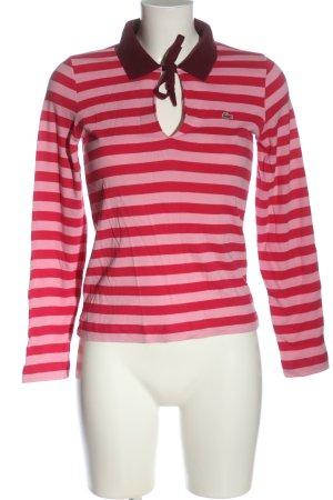 Lacoste Camiseta tipo polo rosa estampado a rayas look casual