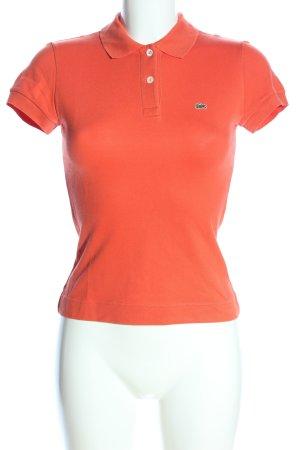 Lacoste Koszulka polo czerwony Wyhaftowany logo W stylu casual