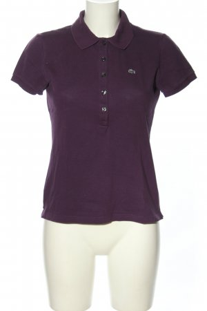 Lacoste Polo-Shirt lila Casual-Look
