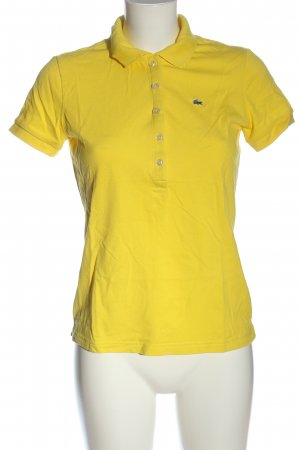 Lacoste Camiseta tipo polo amarillo pálido look casual