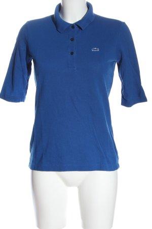 Lacoste Camiseta tipo polo azul look casual