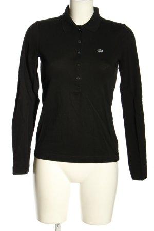 Lacoste Camiseta tipo polo negro look casual