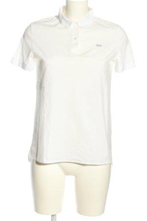 Lacoste Camiseta tipo polo blanco look casual