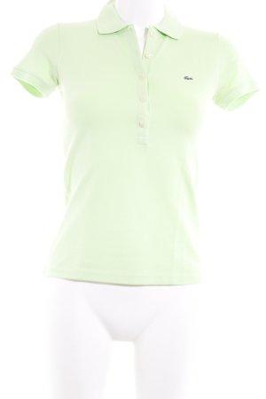 Lacoste Polo-Shirt blassgrün Casual-Look
