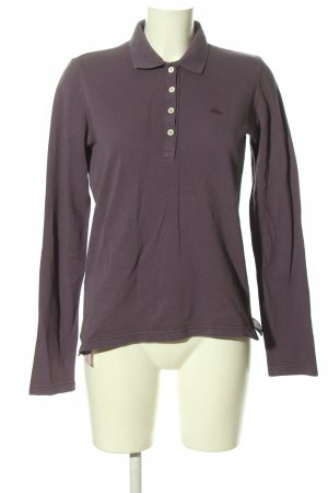 Lacoste Polo-Shirt hellgrau-lila Casual-Look
