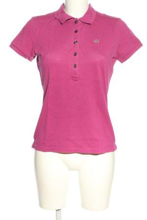 Lacoste Polo rosa stile casual