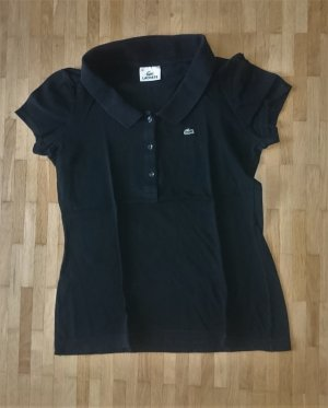 LACOSTE Polo-Shirt schwarz kurzarm Gr. 36