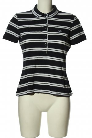 Lacoste Polo-Shirt schwarz-weiß Streifenmuster Casual-Look