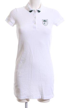 Lacoste Polo-Shirt weiß-grün Casual-Look