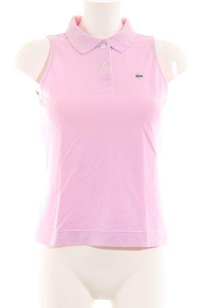 Lacoste Top Polo rosa stile casual