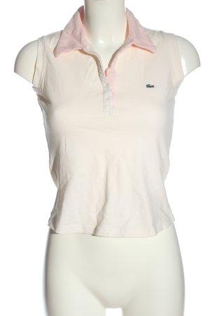 Lacoste Blusa tipo Polo blanco puro-rosa look casual