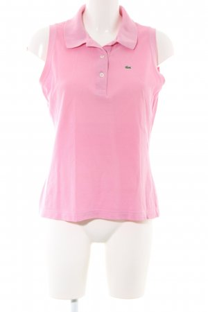 Lacoste Top Polo rosa stile casual