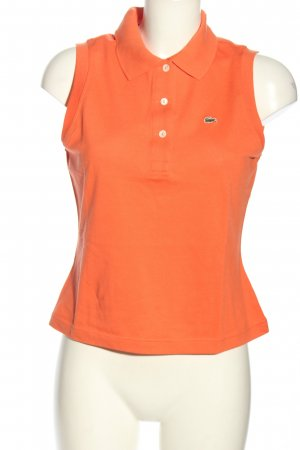 Lacoste Polo Top light orange casual look