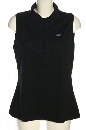 Lacoste Polo Top schwarz Casual-Look