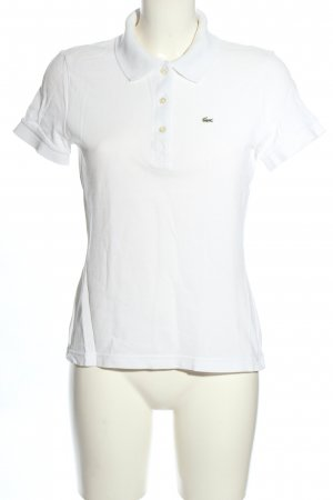 Lacoste Polo Top weiß Casual-Look