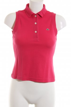 Lacoste Polo Top red casual look