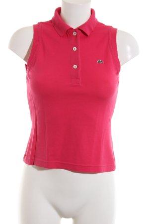 Lacoste Top Polo rosso stile casual