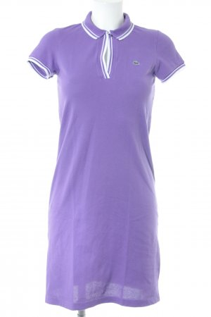 Lacoste Polojurk lila-wit casual uitstraling