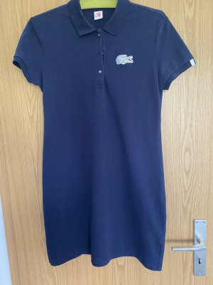 Lacoste Polo Dress blue cotton