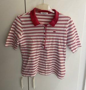 Lacoste Polo shirt framboosrood-wit