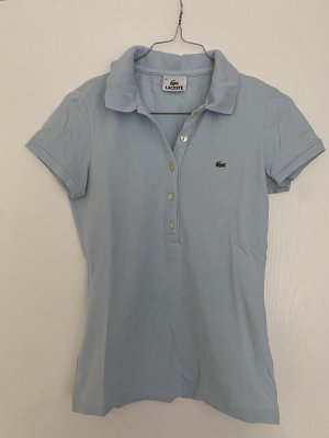 Lacoste Poloshirt Polo Babyblau Pastell Gr. 36 kurzarm
