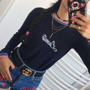 LACOSTE Pullover Sweatshirt Sweater Mädels Style Marineblau Gr:140/152/XXS