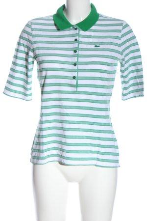 Lacoste Camisa de rayas blanco-verde estampado a rayas look casual