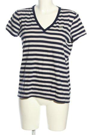 Lacoste Stripe Shirt black-white striped pattern casual look