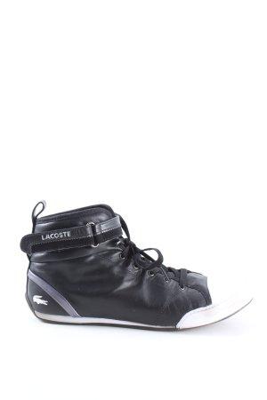 Lacoste Zapatos brogue negro-blanco look casual