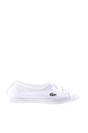 Lacoste Schnürschuhe weiß sportlicher Stil