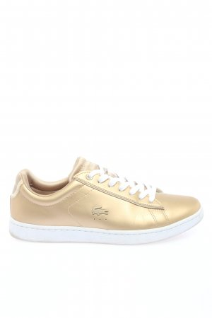 Lacoste Sneaker stringata oro-bianco Stampa a tema stile casual