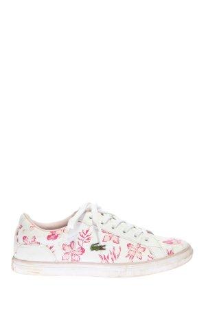 Lacoste Schnürsneaker weiß-pink Blumenmuster Casual-Look