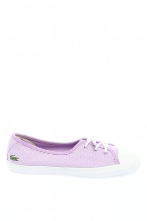 Lacoste Schnürsneaker lila Punktemuster Casual-Look