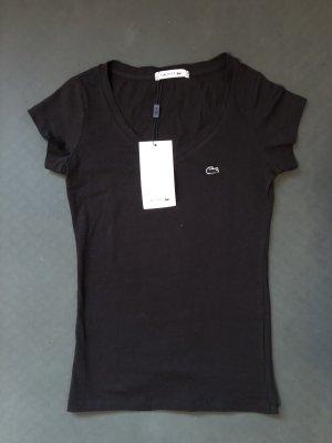 Lacoste T-shirt col en V noir
