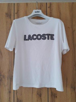 Lacoste Camicia oversize bianco Cotone