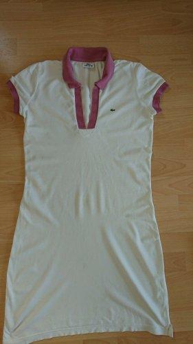 Lacoste Shirtkleid, Gr.38, weiss-pink