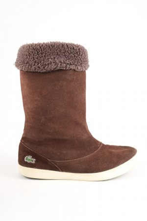 Lacoste Slouch Boots brown casual look