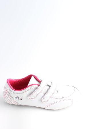 Lacoste Basket velcro blanc-rose style décontracté
