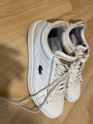 Lacoste Buty skaterskie biały-jasnobrązowy