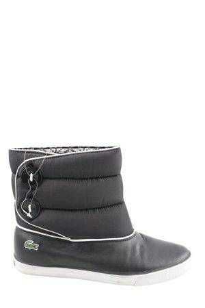 Lacoste Botas de nieve negro estampado acolchado look casual