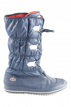 Lacoste Snowboots blau Steppmuster Casual-Look