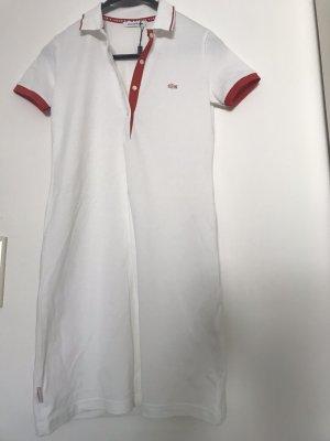 Lacoste Vestido tipo blusón blanco-rojo