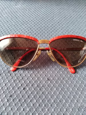 Lacoste Oval Sunglasses red