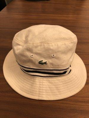 Lacoste Sombrero de ala ancha blanco puro